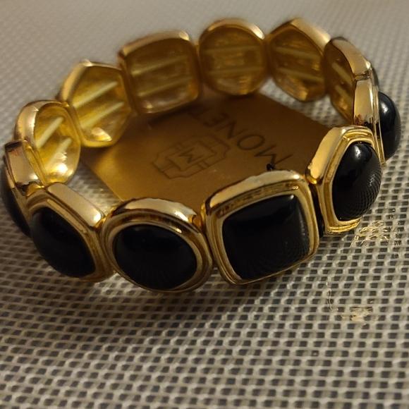 Monet black and gold bracelet